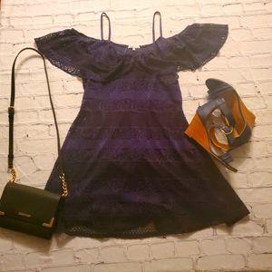 Charlotte Russe dark blue off the shoulder dress